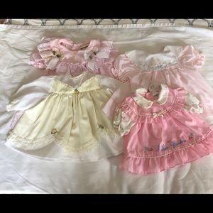 4 piece vintage dresses size 3 - 9 Months